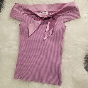 BEBE pink/purple blouse, size s, brand new